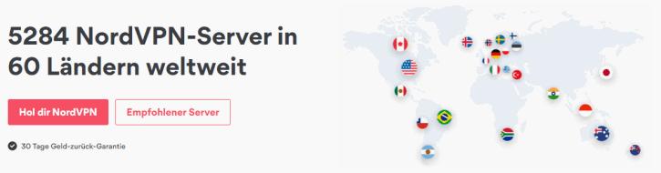 NordVPN Abdeckung VPN-Server