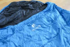 Alpin Loacker Sommerschlafsack ausgepackt