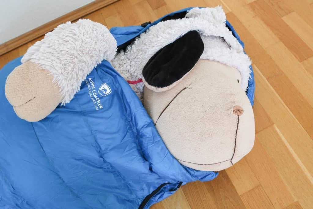 Alpin Loacker Sommerschlafsack Volumen