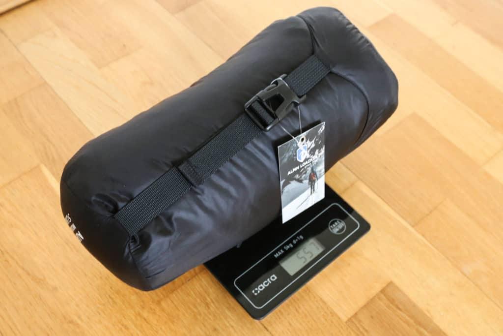 Alpin Loacker Sommerschlafsack Gewicht