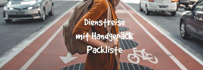dienstreise mit handgepäck packliste