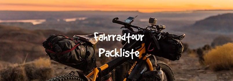 fahrradtour packliste
