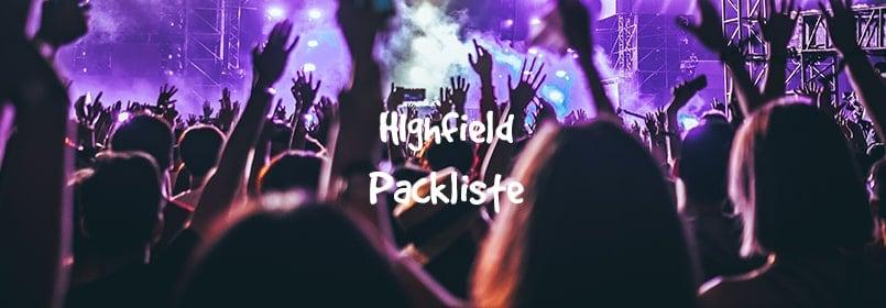 highfield packliste