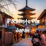 Packliste Japan