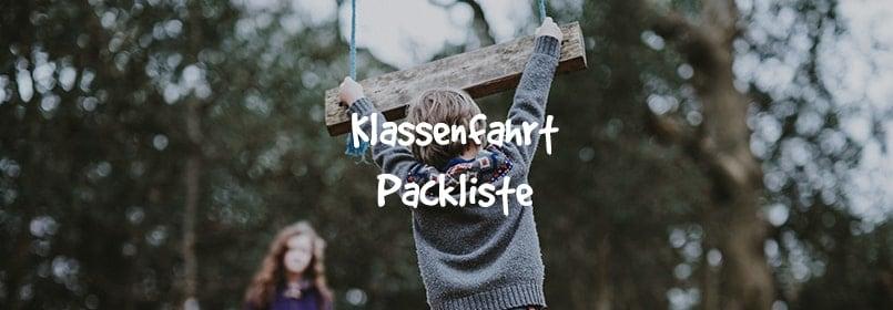 klassenfahrt packliste