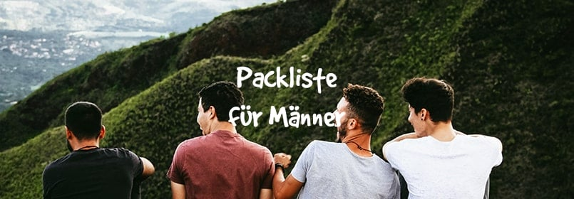 männer packliste