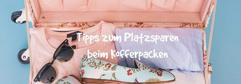 platzsparen beim Kofferpacken