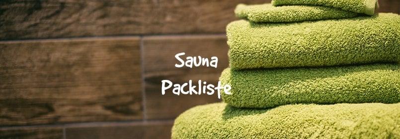 sauna packliste