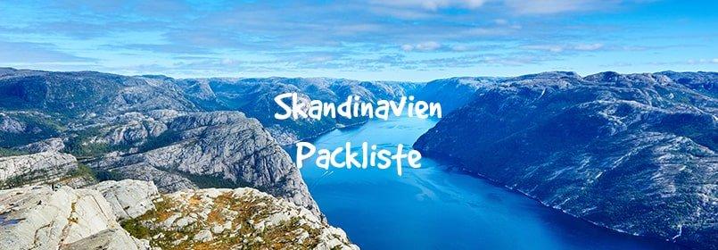 skandinavien packliste