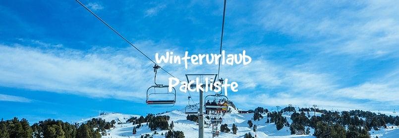winterurlaub packliste